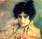 Portrait of the Unknown. V. Serov. 1895. Canvas, pastel