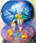 Still Life with a Tray. P. Kuznetsov. 1913. Canvas, oil