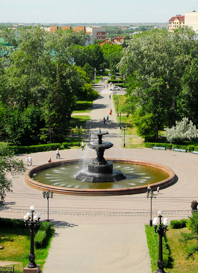 Fountain next to the Administration of the city of Omsk