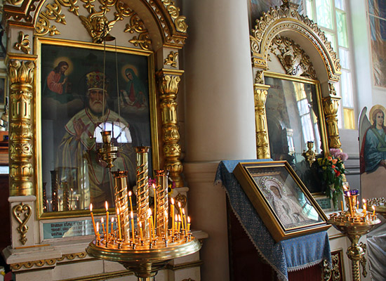 Interior of St. Nicolas Cossack Church