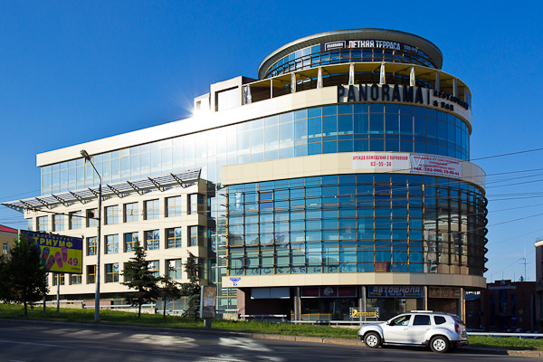 One of the new retail and office centers in Omsk