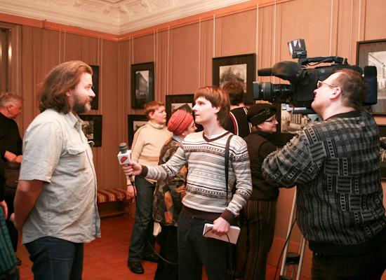 Открытие фотовыставки к 90-летию М.И. Фрумгарца «Город, которого нет» в музее Кондратия Белова (февраль — март 2011 года)
