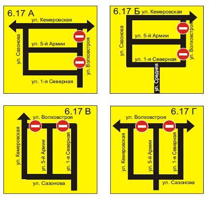 Схема перекрытия движения